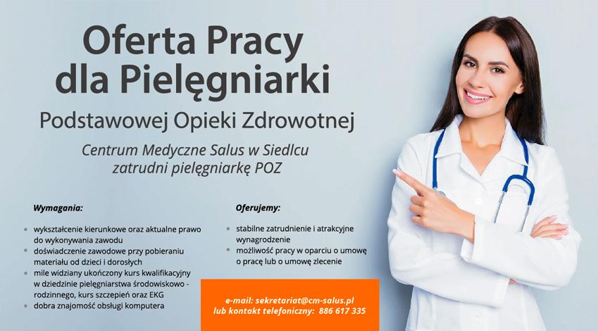 Oferta pracy dla pielęgniarki