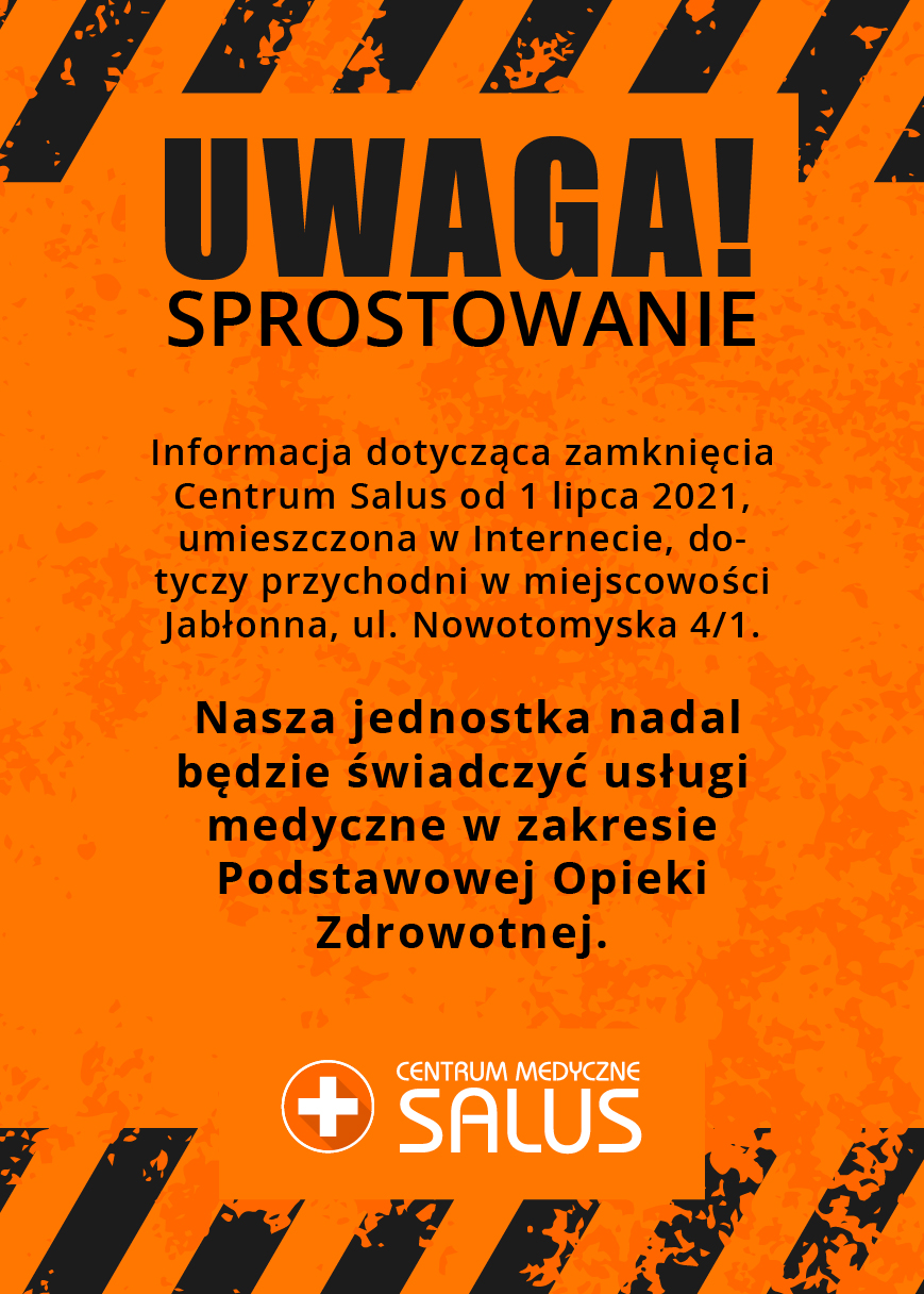 UWAGA!! SPROSTOWANIE !!
