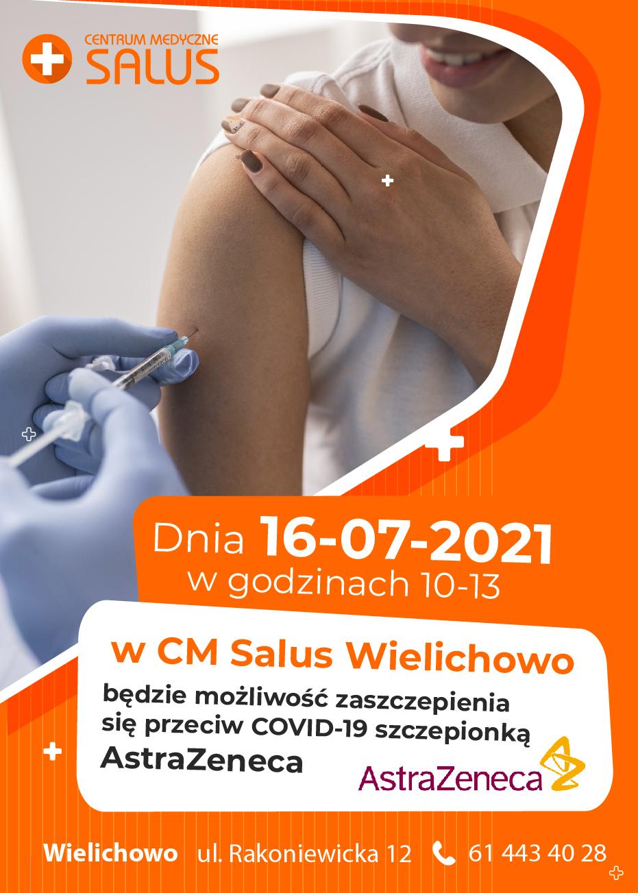 AstraZeneca szczepienia w CM Salus Wielichowo